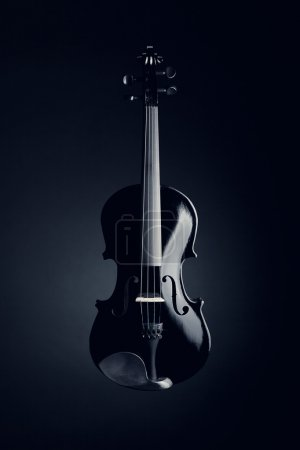 eleganckie czarne skrzypce
