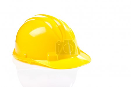 Yellow helmet isolated