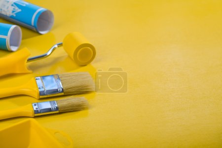 Copyspace image of painting tools