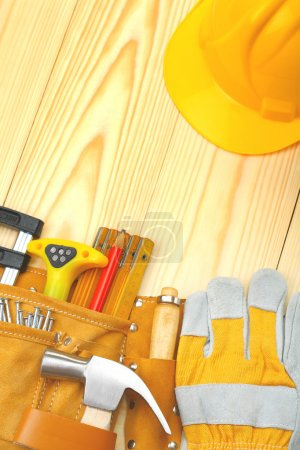 Copyspace image of construction tools