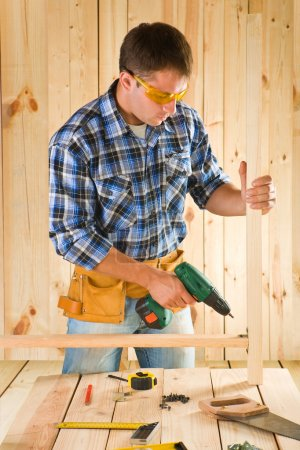 Carpenter in work