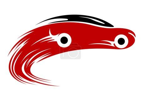 Illustration pour Silhouette de voiture de course rapide. Illustration vectorielle - image libre de droit
