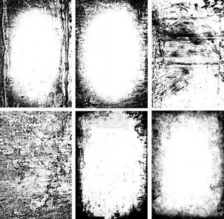 Foto de Marcos blanco y negro grunge - Imagen libre de derechos