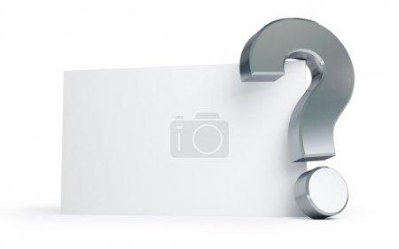 Foto de Signo de interrogación sobre un fondo blanco - Imagen libre de derechos