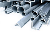 Metal pipes, angles squares