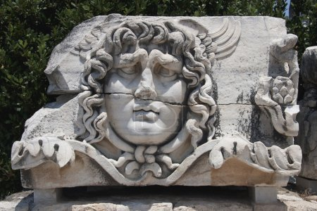 Medusa Gorgon in Apollo Temple - Didyma in Aydin, ...