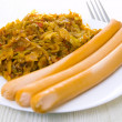 Sausages with cabbage...