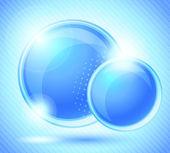 Pozadí s dvěma modré kruhy