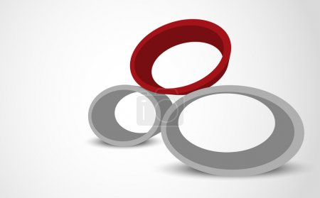 Illustration for Abstract gray background with 3d colorful ellipse - Royalty Free Image
