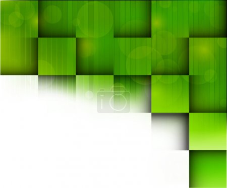 Illustration for Abstract bright background with green squares - Royalty Free Image