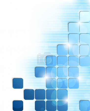 Illustration for Abstract bright background with blue squares and stripes - Royalty Free Image