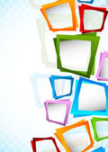 Bright backgroudn with colorful squares Abstract illustration