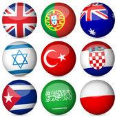 national flag ball set 4