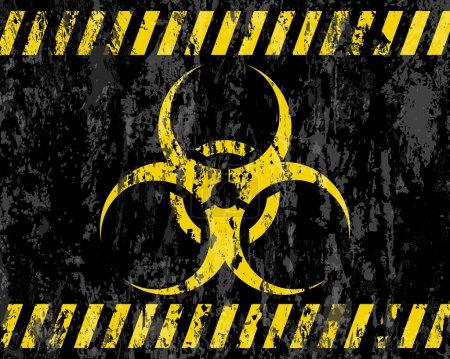 fond de signe biohazard grunge