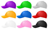 Color baseball caps
