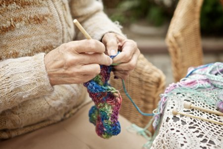 Woman Kntting