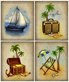 Sada dovolené ilustrací