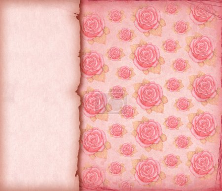 Photo for Pink vintage wallpaper - Royalty Free Image