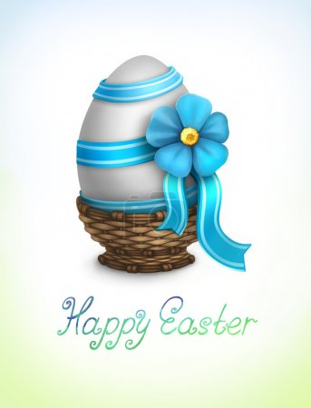 Photo pour Fond de Pâques avec illustration d'oeuf - image libre de droit