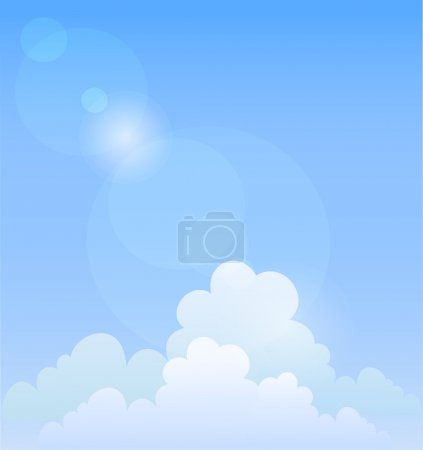 Illustration for Blue sky. Vector background - Royalty Free Image