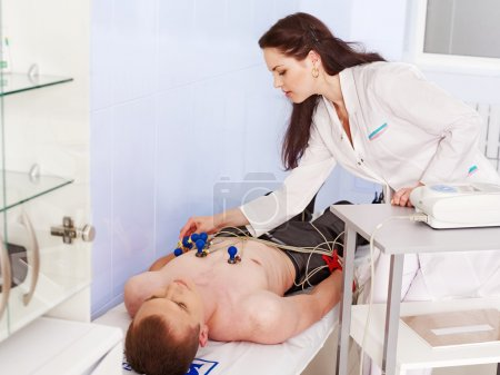 Doctor remove cardiogram test....