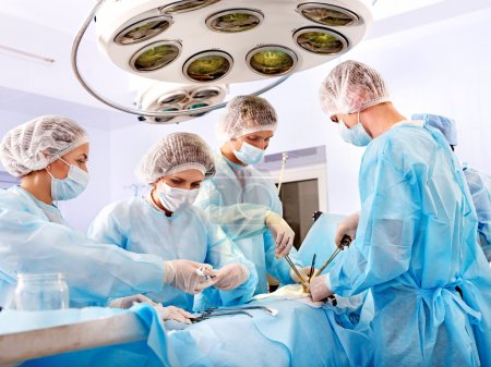 Photo for Team surgeon at work in operating room. - Royalty Free Image