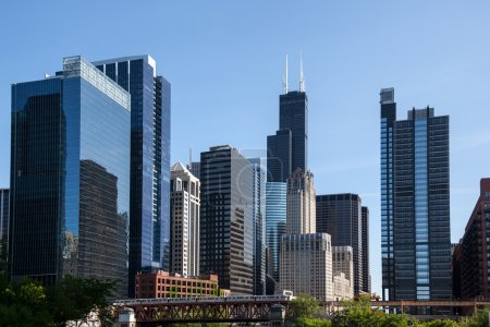 Chicago skyline from the river