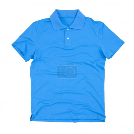 Photograph of blank polo shirt isolated on white