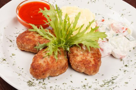 Cutlets with potatoes