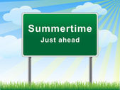 Summertime just ahead billboard.