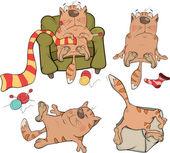 The company of cheerful cats cartoon