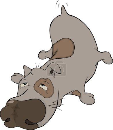 The hunting dog. Cartoon