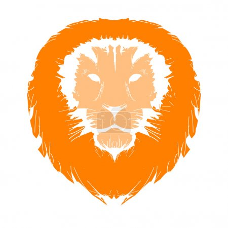 Sketch of lion's head for your design