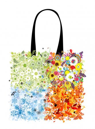 Shopping bag design, four seasons