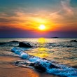 Colorful sunset over the sea...