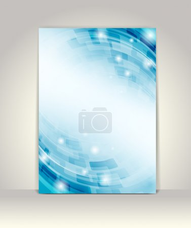 Photo for Business brochure template, abstract technology design - Royalty Free Image