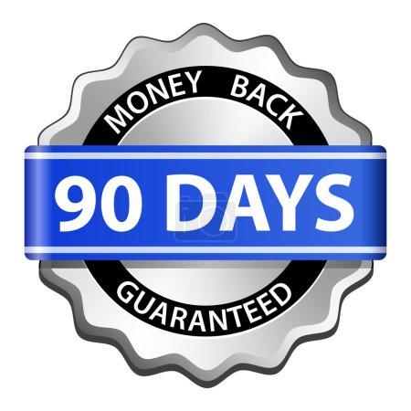 Illustration for 90 days money back guarantee sign. Vector illustration - Royalty Free Image