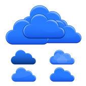 Blue Clouds Vector Illustration