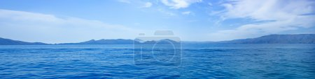 Photo for Summer panoramic view of the sea and mountain range - Royalty Free Image