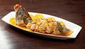 Pečené perch.rockfish