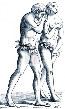 Adam and Eve by Masachchio