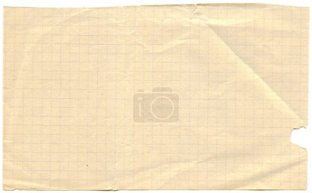Old yellowed graph paper