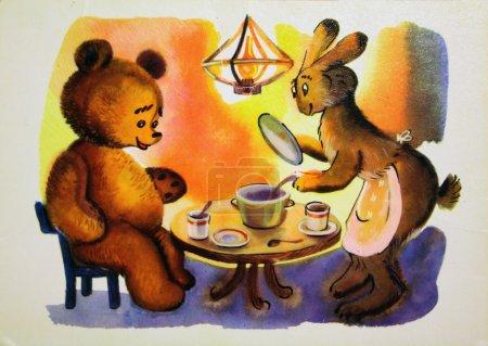 Winnie the Pooh, Antique postcard