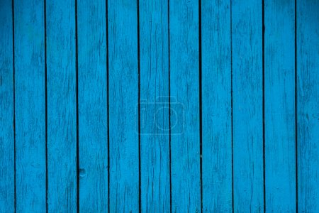 Photo for Old blue wooden background closeup - Royalty Free Image