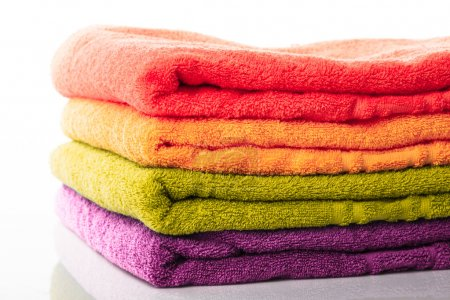 Stack towels isolated