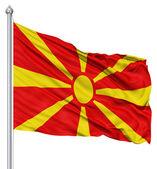 Vlající vlajka Makedonie