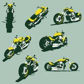 Vector harleycustom bikes