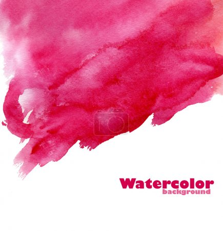 Photo for Watercolor abstract hand painted background. Made myself. - Royalty Free Image