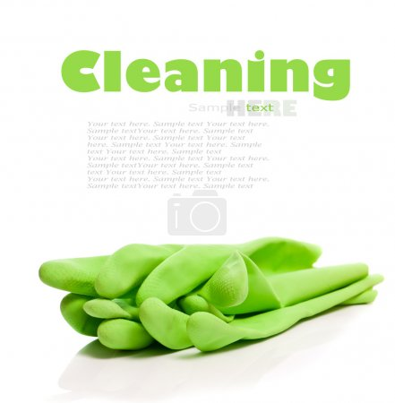 Photo for Devices for cleaning on a white background - Royalty Free Image