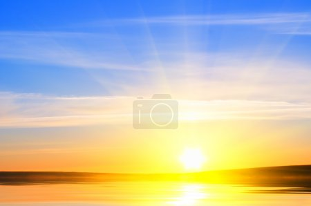 Photo for Sunrise over ocean. Nature composition. - Royalty Free Image